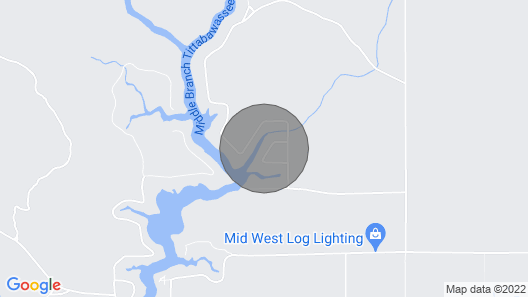 Secord Lake Rental, Lake is Currently not Available due to dam Inspection Map