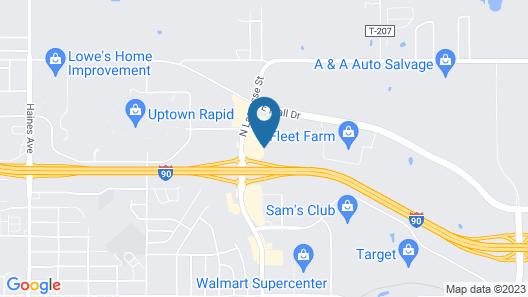 Econo Lodge Black Hills Map