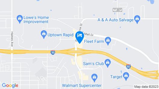 Serena Inn & Suites - Rapid City Map
