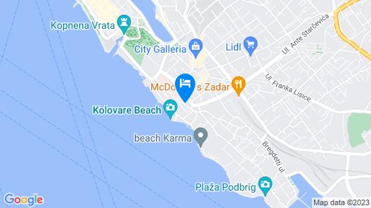 Hotel Kolovare Map