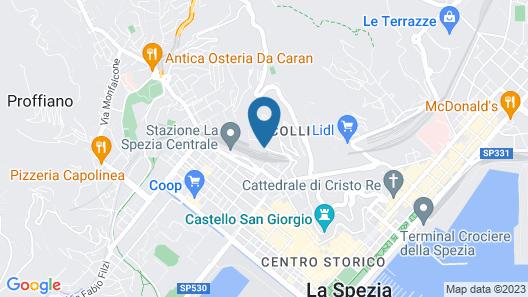 Le 5 Terre La Spezia Map