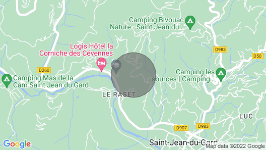 Charming Cottage in Cévennes Map