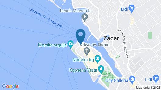 Zadera Accommodation Map