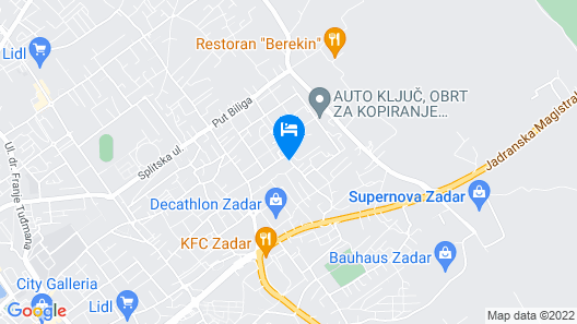 Traditional Apartment in Zadar With Garden Map