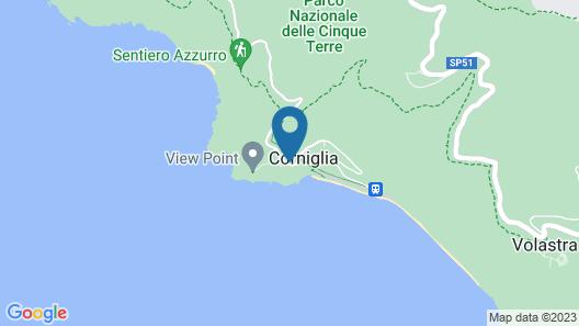 Ostello Corniglia Map