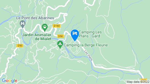 Camping Les Plans Map