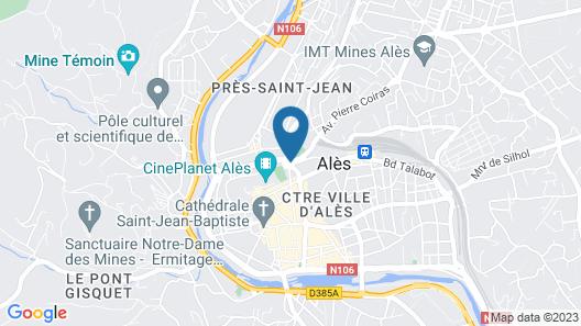 Campanile Alès Centre - Cévennes Map
