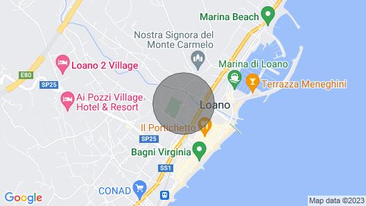 Residence Riviera Palace, Loano Map