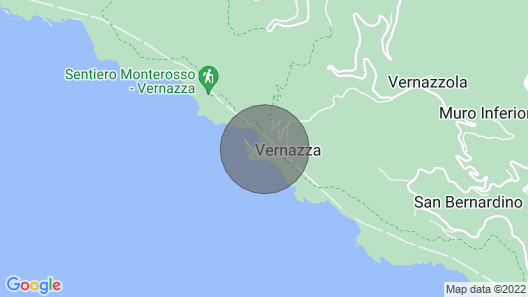Stunning Views of the 5 Terre Bay, Directly on Vernazza's Main Square Map