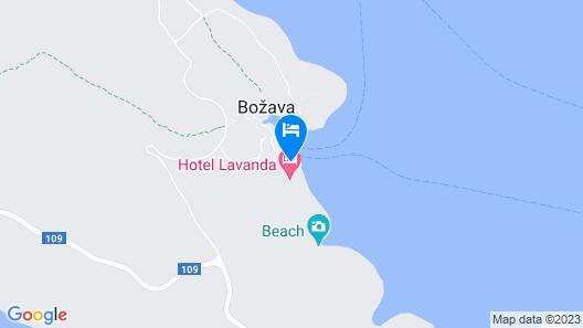 Bozava - Lavanda Map