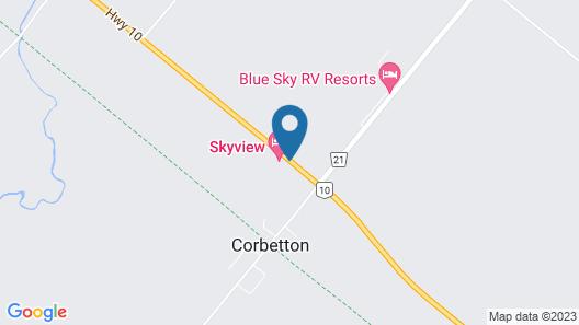 Skyview Motel Map