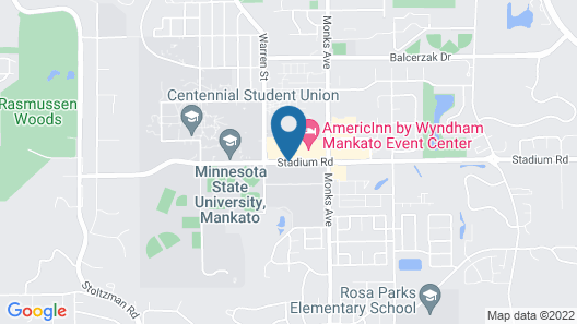 AmericInn by Wyndham Mankato Event Center Map