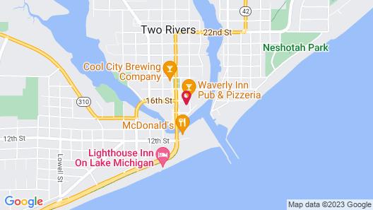 Cobblestone Hotel & Suites - Two Rivers Map