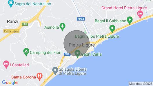 Residence Sant'anna, Pietra Ligure Map