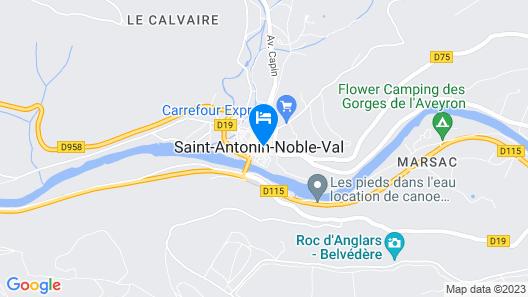 Chambre d'hôtes Bleu Lavande Map