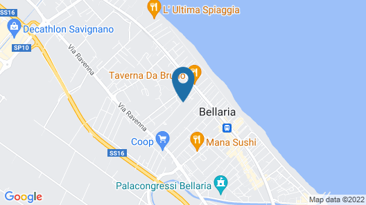 Hotel Mirage Bellaria Map