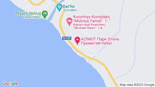 AZIMUT Hotel Prometey Nebug Tuapse Map