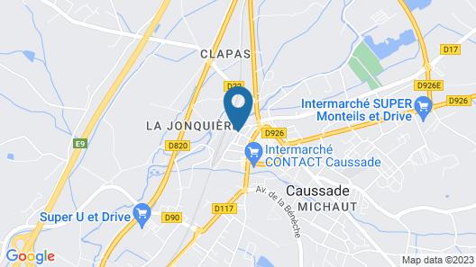 Résidence Hôtel Larroque Map