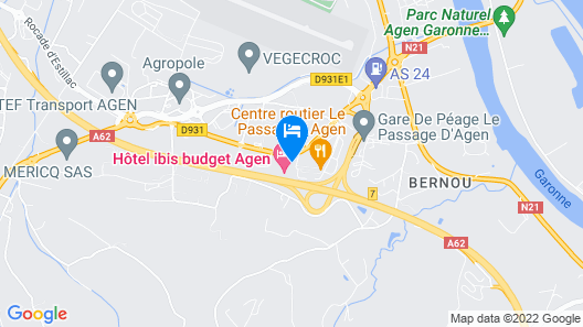 ibis budget Agen Map