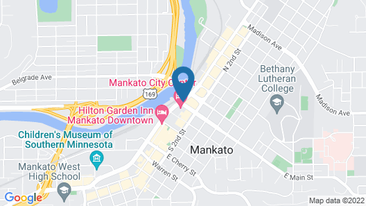 Mankato City Center Hotel Map