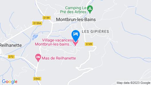 Village vacances Léo Lagrange Montbrun Map