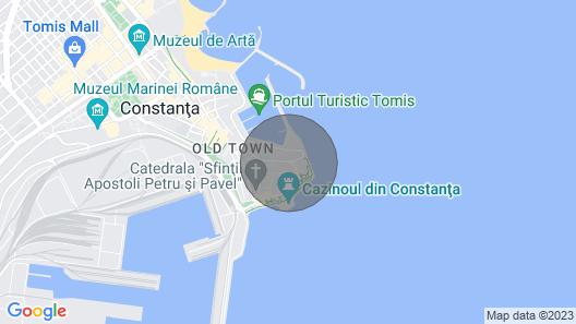 Beachfront Condo-walk 2 min to Constanta Casino Map