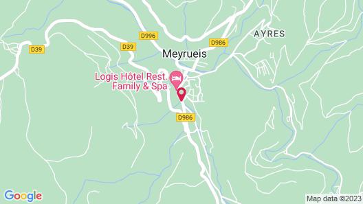 Hotel Le Mont Aigoual Map