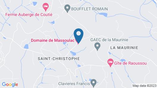 Domaine de Massoulac Map