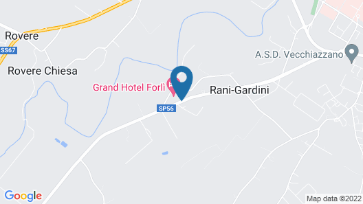 Grand Hotel Forlì Map