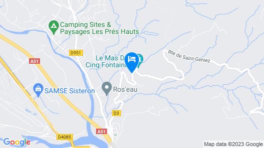 Le Mas des 5 Fontaines. Chambres d'hôtes Map