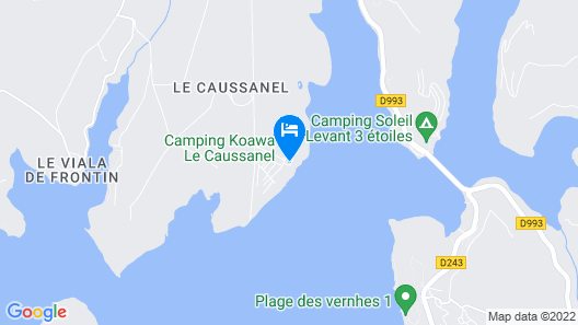 Camping le Caussanel Map