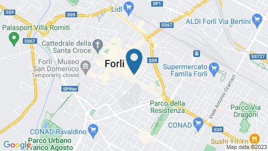 Hotel Marta Forlì Map