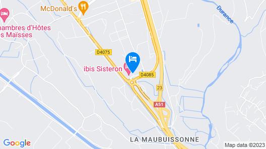 ibis Sisteron Map