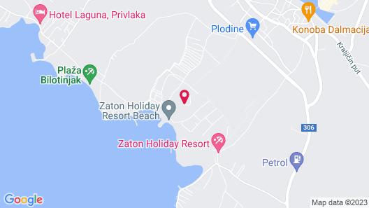 Zaton Holiday Resort Apartments Map