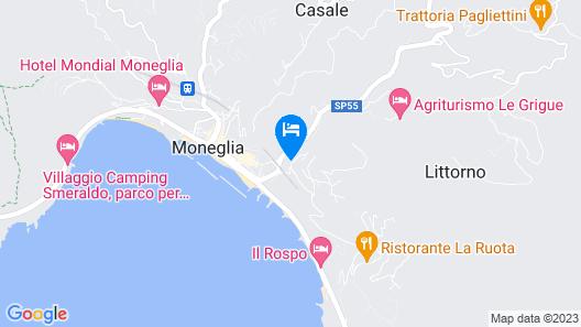 Cosy Apartment in Moneglia With Balcony Map