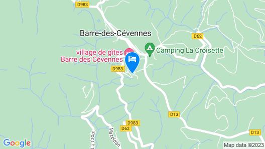 Village Vacances de Barre des Cevennes Map