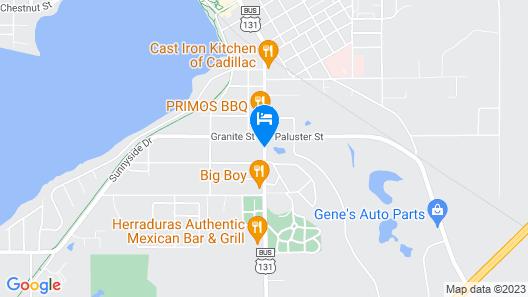 Economy Inn Cadillac Map