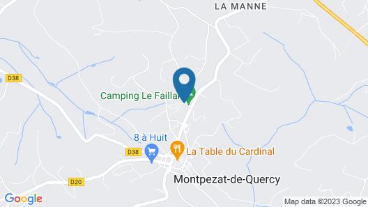 Camping Le Faillal - Cabanes et chalets Map