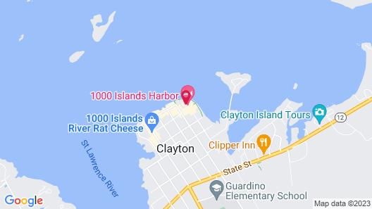 1000 Islands Harbor Hotel Map