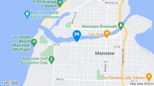 Riverside Motel and Marina Manistee Map