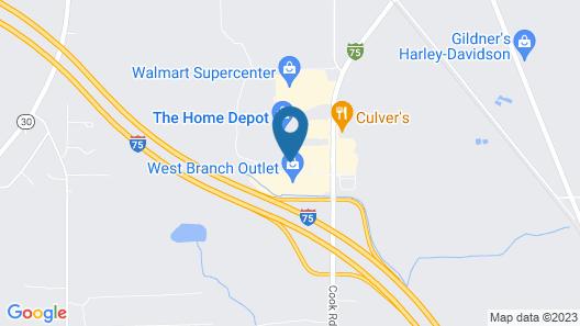 Super 8 by Wyndham West Branch Map