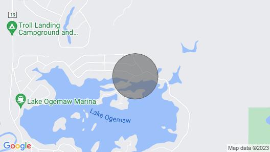 7/6-7/13 Full week 2-bedroom Cabin on Ogemaw lakefront property Map