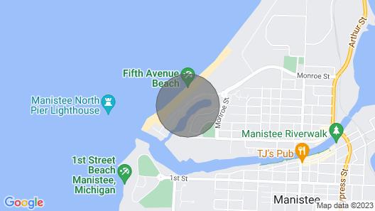 LK MI Beach Condo - Best View In Manistee Map