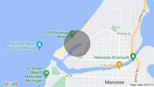 Remodeled Harbor Condo Steps to Lake MI Map