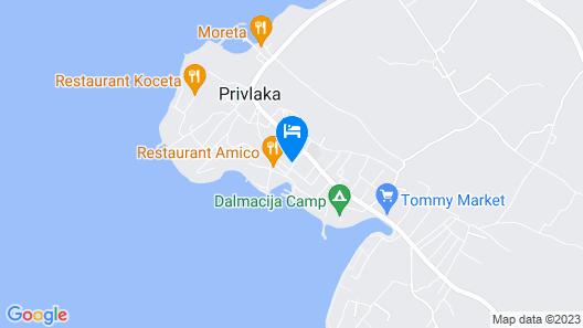 Apartment Mlađo A4 - Privlaka, Zadar Riviera, Croatia Map