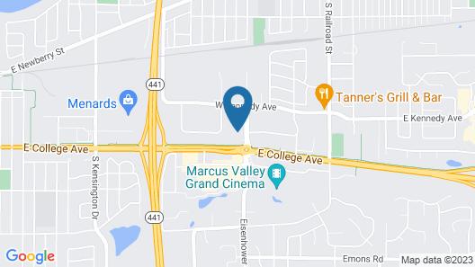 Hilton Garden Inn Appleton/Kimberly Map