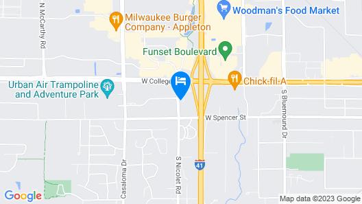 DoubleTree by Hilton Appleton Map