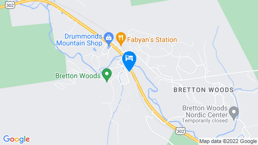 Bretton Woods Condos by Bretton Woods Vacations Map