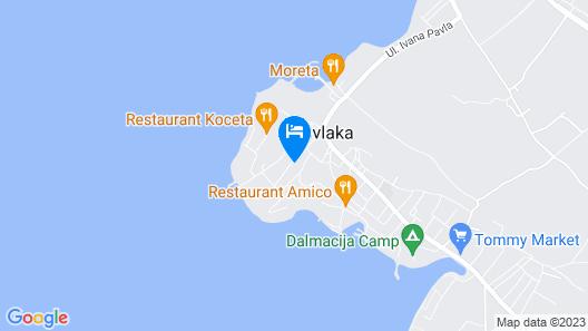 Apartment complex Lungomare in Privlaka Map