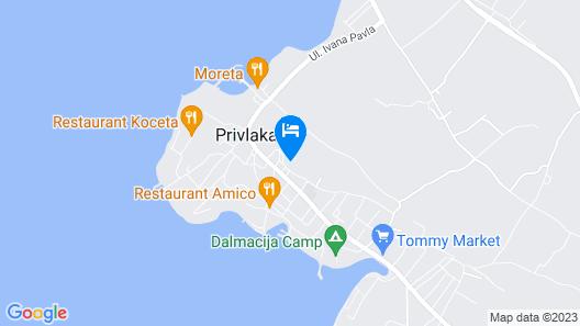 Villa Jadranka Privlaka Map